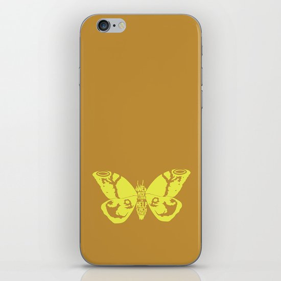 We Must Learn to Help Each Other -Mothra vs. Godzilla iPhone & iPod Skin