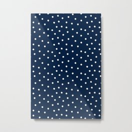 Scatter dots on navy Metal Print