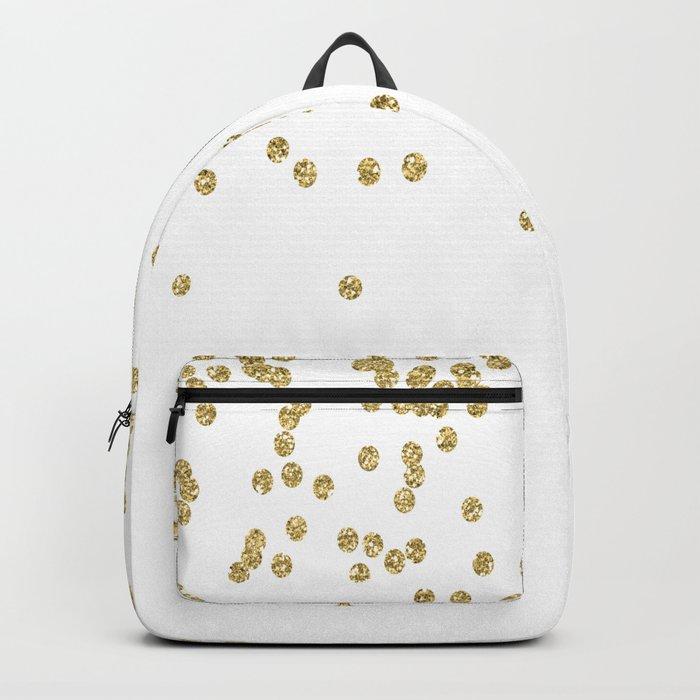Sparkling golden glitter confetti - Luxury design #Society6 Backpack