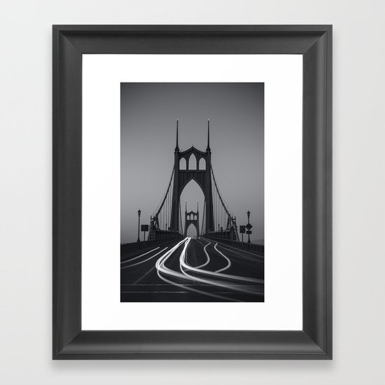 St. Johns Monotone Framed Art Print