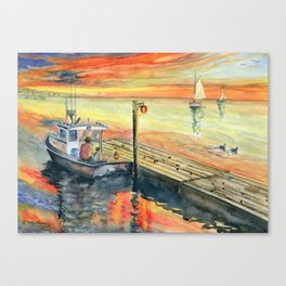 A Delightful Evening Canvas Print