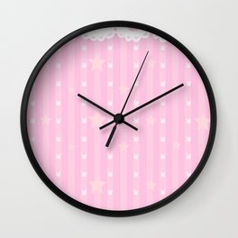 Kawaii Pink Wall Clock