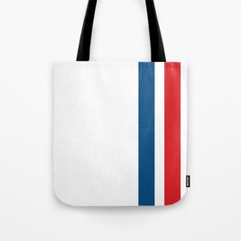 McQueen – Red and Blue Stripes Tote Bag
