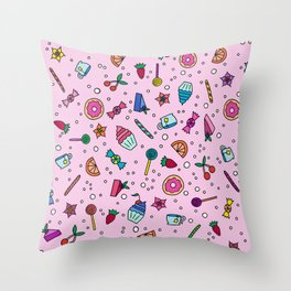 Candy and Sweets Throw Pillow