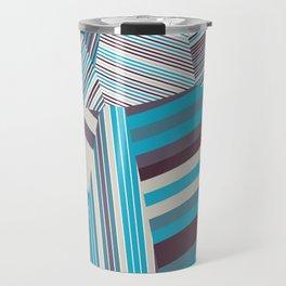 Skycraper Blues - Voronoi Stripes Travel Mug