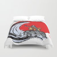 airbender Duvet Covers featuring Aang in the Avatar State by Tom Ledin