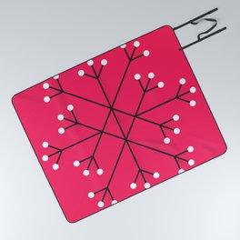 Mod Snowflake Hot Pink Picnic Blanket