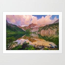 Snowmass Lake Art Print