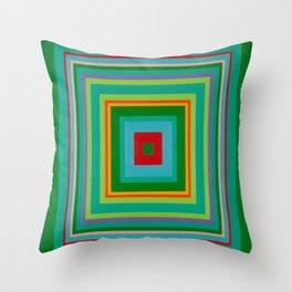 """""""Pop Ring Green""""   Op art Throw Pillow"""