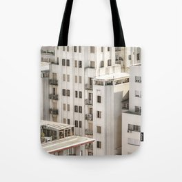 Montevideo Cityscape Aerial View Tote Bag