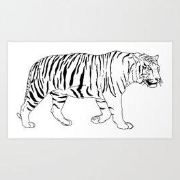 Walking Tiger Art Print