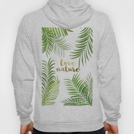 Green Palm Leaves Hoody