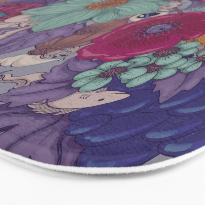 the wild side - colored Bath Mat