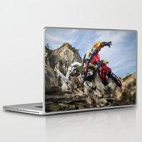 gurren lagann Laptop & iPad Skins featuring gurren battle by romar
