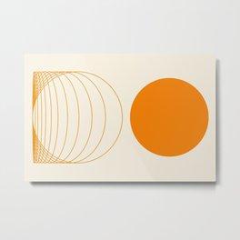 Abstraction_SUNSHINE_RISING_LINE_POP_ART_Minimalism_001B Metal Print