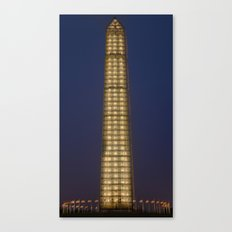 Washington Monument After Dark Canvas Print