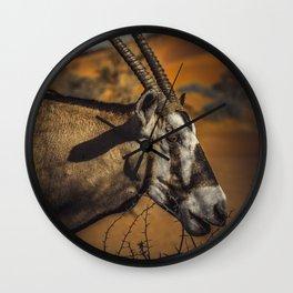Oryx Antilope Wall Clock