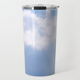 Blue Sky and White Clouds with Light Beams Photography Travel Mug