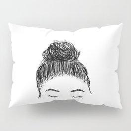 messy girl bun Pillow Sham