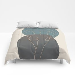Line Female Figure 80 Comforters