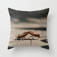 wrestling Throw Pillows featuring wrestling by Grigoriy Pil