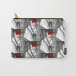 Santa Horse Black and White 3 Carry-All Pouch