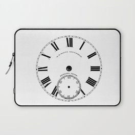 Time goes by vintage clock Laptop Sleeve