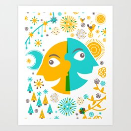 Day and Night, Winter and Summer Art Print
