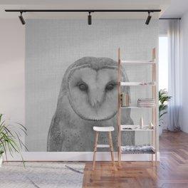 Owl - Black & White Wall Mural