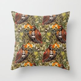 the ghost sanctuary Throw Pillow