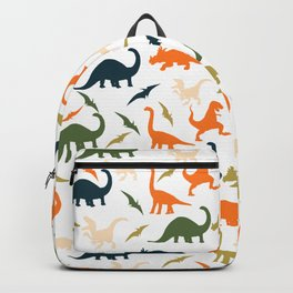 Dinos in Pastel Green and Orange Backpack