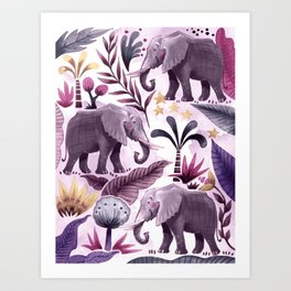 Elephant Forest Art Print