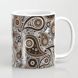 Saffron Orange Paisley Pattern Design Coffee Mug