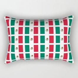 Flag of mexico 2- mexico,mexico city,mexicano,mexicana,latine,peso,spain,Guadalajara,Monterrey Rectangular Pillow