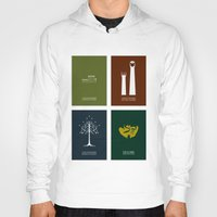 the lord of the rings Hoodies featuring Lord of the Rings - Complete Minimalist Collection by Jamesy