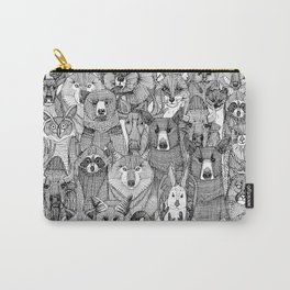 canadian animals black white Carry-All Pouch