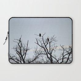 Pair of Bald Eagles keeping watch Laptop Sleeve