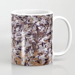 Snow geese in flight Coffee Mug