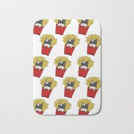 Frenchie Fries Pattern Bath Mat
