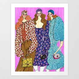Love in Spade – Fall 2019 – Original Fashion art, Fashion Illustration, Fashion wall art Art Print