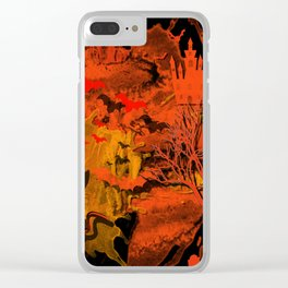 Halloween Kitty Clear iPhone Case