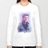 dean winchester Long Sleeve T-shirts featuring Dean Winchester Pastel by Kaye Pyle