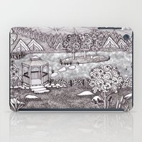 vermont iPad Cases featuring Zentangle Vermont Mountain Pond by Vermont Greetings