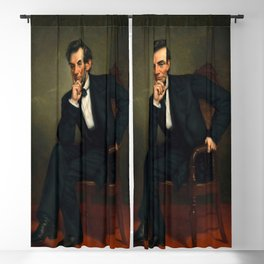 """George Peter Alexander Healy """"Abraham Lincoln"""" Blackout Curtain"""