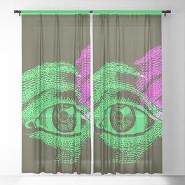 Eyes Sheer Curtain