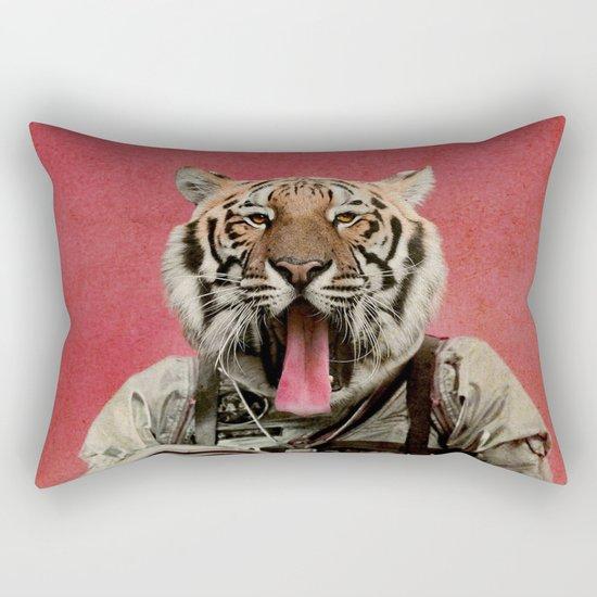 Space tiger Rectangular Pillow