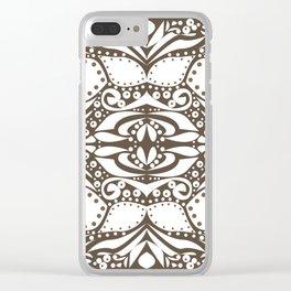 vintage floral pattern Clear iPhone Case