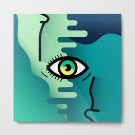Open your eyes Metal Print