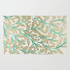 Green & Gold Branches Rug