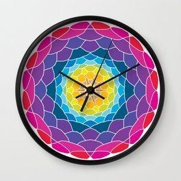 floral ornament. circular pattern Wall Clock